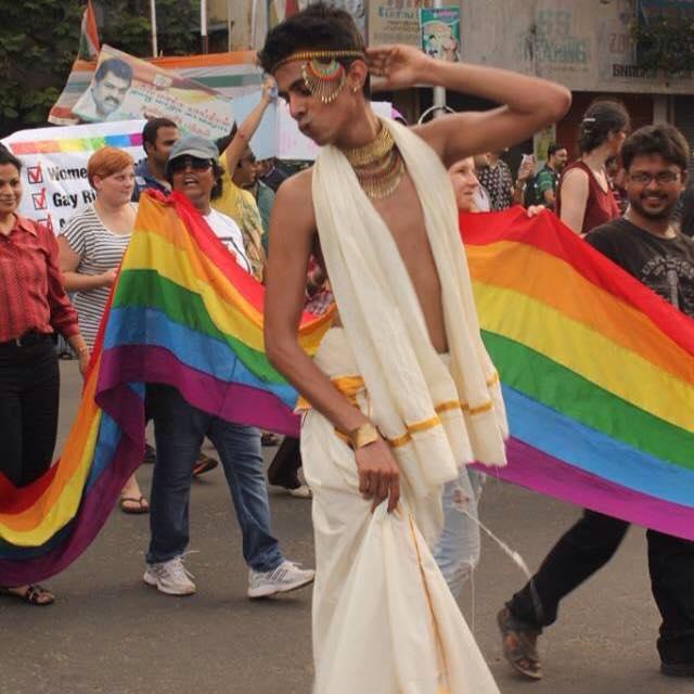 Pride Walk costumes. Sumit walks for Chennai Pride Walk