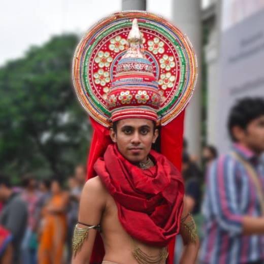 Pride Walk costumes. Sumit Powar walks for Bengaluru Pride Walk 2015
